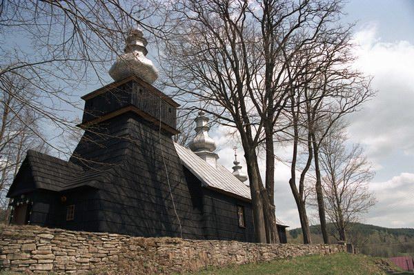 Polany. Cerkiew grecko katolicka p.w. św. Michała Archanioła z 1820 r. Obecnie kościół rzymsko katolicki. Łemkowszczyzna.