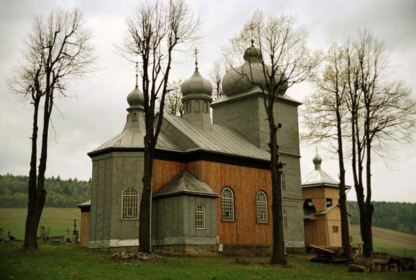 Konieczna. Cerkiew grecko katolicka, obecnie cerkiew prawosławna. Łemkowszczyzna.
