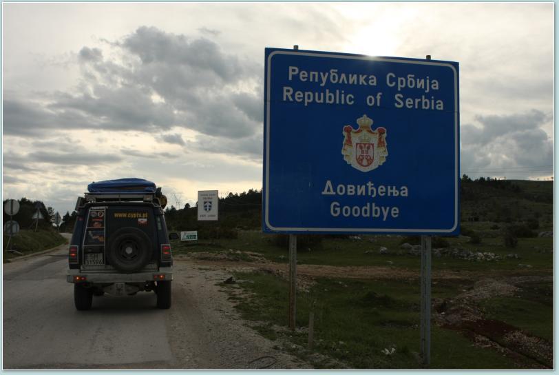 Jedna z najmłodszych granic w Europie - między Serbią a Czarnogórą.